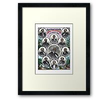 Distinguished Colored Men Framed Print