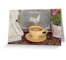 French Country Hot Chocolate Bowl Greeting Card