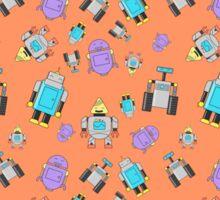 Robots Orange Sticker