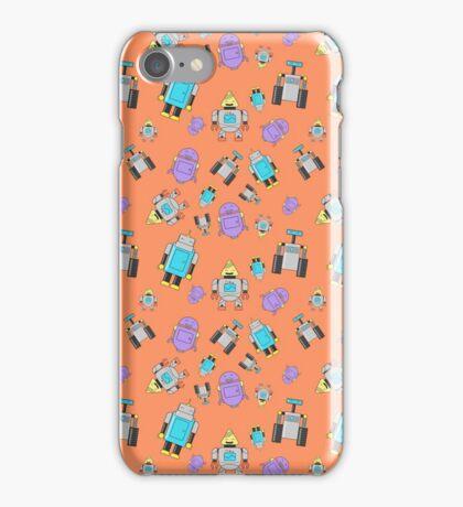 Robots Orange iPhone Case/Skin