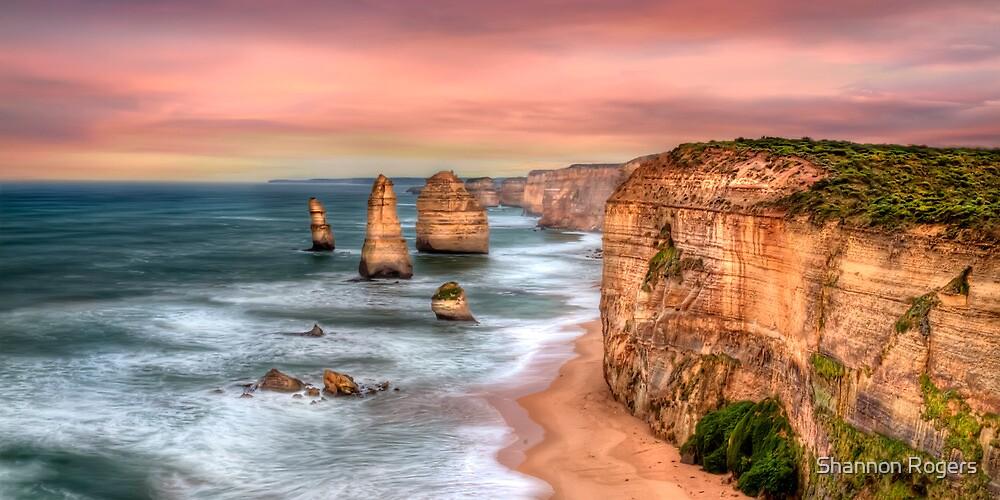 Golden Limestone Cliffs by Shannon Rogers