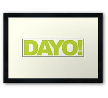 Beetlejuice - DAYO! Framed Print