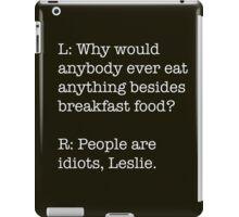 Breakfast Foods Philosophy 3 iPad Case/Skin