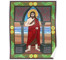 Icon of St. John the Baptist Poster