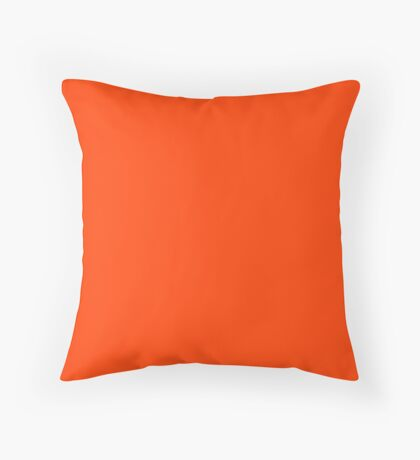 Bright Fluorescent Attack Orange Neon Throw Pillow