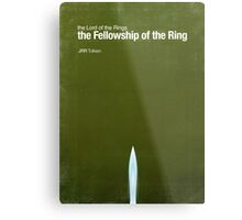 """Fellowship of the Ring""- minimalist movie poster Metal Print"