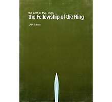 """Fellowship of the Ring""- minimalist movie poster Photographic Print"