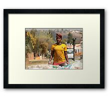 A TOugh Day At The Office Framed Print