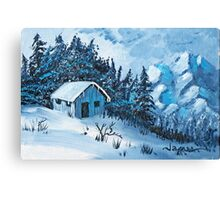 A Home in the Mountains * Canvas Print