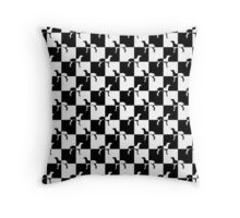 Black and White Checkerboard Weimaraner Throw Pillow