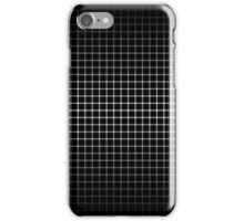 Optical Illusion Grid in Black and White iPhone Case/Skin
