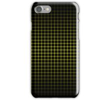 Optical Illusion Grid in Black and Yellow iPhone Case/Skin