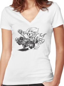 Doc Fink Women's Fitted V-Neck T-Shirt
