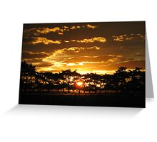 NikkiJo's 'Sunset over Wakanui' Greeting Card
