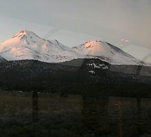 Mt. Shasta from the train by Lorrie Davis