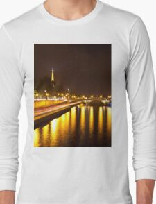 Eiffel Tower overview - panorama Long Sleeve T-Shirt