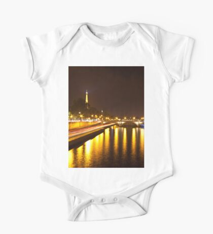 Eiffel Tower overview - panorama One Piece - Short Sleeve