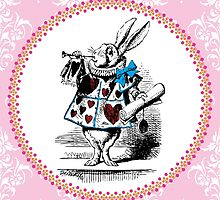 Alice in Wonderland - The Herald of the Court of Hearts (White Rabbit) by EclecticAtHeART
