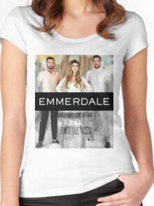 Emmerdale- Ross Barton Women's Fitted Scoop T-Shirt