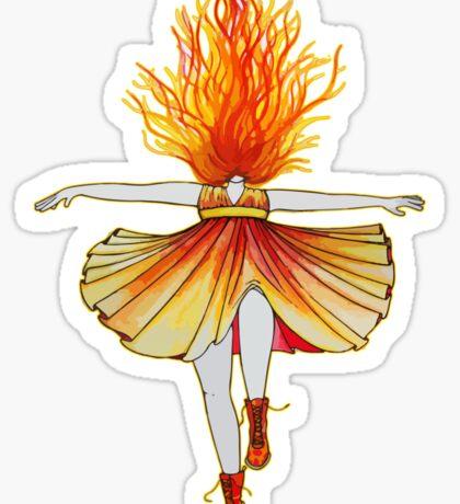 Girl on fire by Studinano Sticker