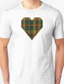 00336 Londonderry County District Tartan  Unisex T-Shirt