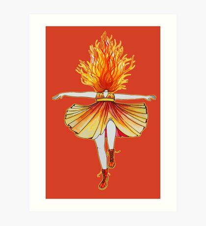 Girl on fire by Studinano Art Print