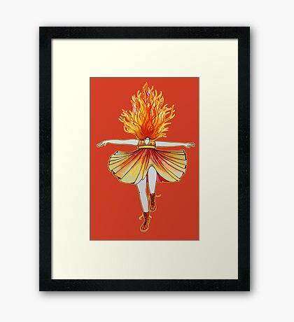 Girl on fire by Studinano Framed Print