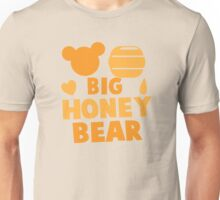 Big Honey bear with honey pot and bears face (good for a new daddy) Unisex T-Shirt