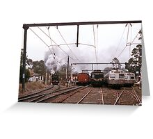1970s K190 excursion train at Eltham Greeting Card