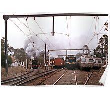 1970s K190 excursion train at Eltham Poster
