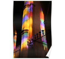 Natural play of light in the Cathedrale of Palma de Mallorca Poster