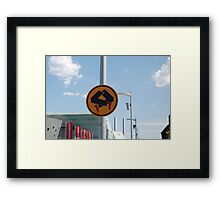 0838 Pedestrians doing quick step Framed Print