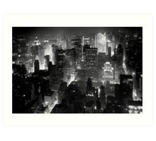 Sleepless In Manhattan Art Print