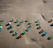 I love you - Sea Glass marbles Galore by NicoleBPhotos