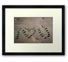 I love you - Sea Glass marbles Galore Framed Print