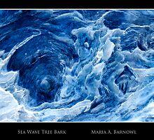 Sea Wave Tree Bark - - Cards by Maria A. Barnowl