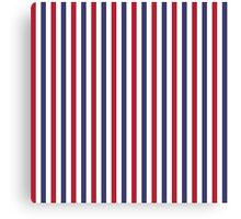 USA Flag Red and Flag Blue Wide Stripes Canvas Print
