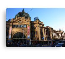 Flinder Street Rail Station, Melbourne, Victoria, Australia. Canvas Print