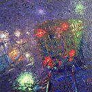 Night Express / 2010 / oil on glass by Ivan KRUTOYAROV