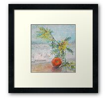 """Disco-Orange Or """"To Donna Summer From USSR With Love"""" / 1987 / oil on cardboard Framed Print"""