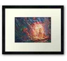 Telephone-Island  / 1988 / oil, pencil on paper Framed Print