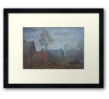 Cloudy Sketch  / 1988 / oil on cardboard Framed Print