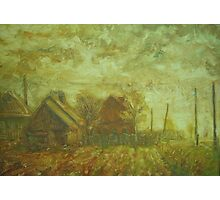 Before Storm. Sketch  / 1988 / oil on cardboard Photographic Print