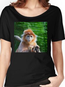GUESS WHO WON THE STARING CONTEST? Women's Relaxed Fit T-Shirt
