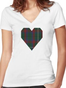 00341 Mayo County District Tartan Women's Fitted V-Neck T-Shirt