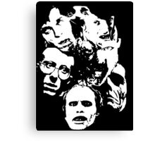 Zombie Icons Canvas Print