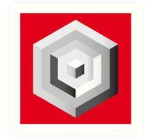 abstract geometric form Art Print