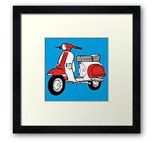Scooter motorcycle classic Framed Print