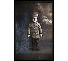 too young for a uniform Photographic Print