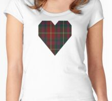 00343 Meath County District Tartan  Women's Fitted Scoop T-Shirt